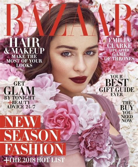 Emilia Clarke Us Harper's Bazaar December 2017 January