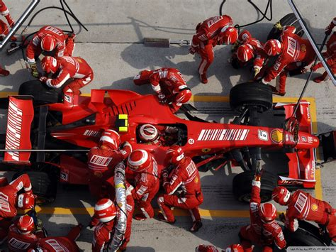 formula  ferrari pit stop air view  desktop