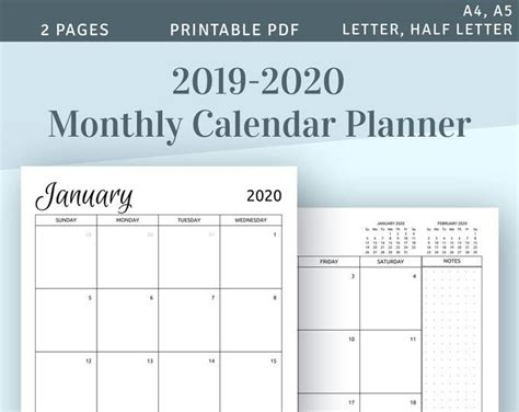 monthly goal planner printable  productivity life