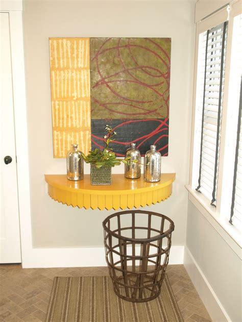 wall mounted entry table wall mounted demilune table entryway pinterest tables