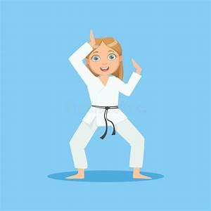Pole Position Dessin Animé : fille dans le kimono blanc demontrating commen ant la position sur le personnage de dessin anim ~ Medecine-chirurgie-esthetiques.com Avis de Voitures