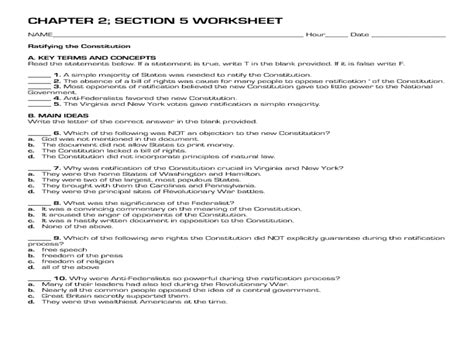 52 the us constitution worksheet the us constitution