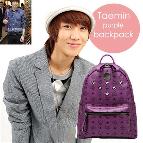 backpack mcm purple taemin shinee backpack mcm taemin shinee ungu