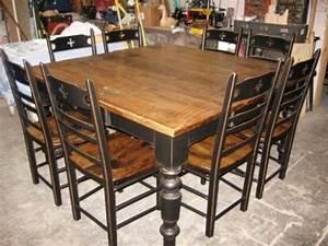 Table De Cuisine En Bois : table de cuisine dessus en vieux bois n 1011 le g ant antique ~ Teatrodelosmanantiales.com Idées de Décoration
