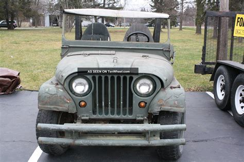 willys jeep truck green 1953 willys military jeep