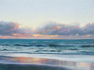 Ocean Painting - Days End Painting by Jan Matson