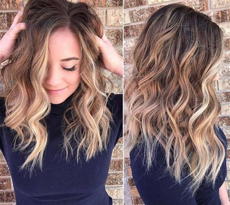 blond selber färben 1001 ideen f 252 r balayage braun haarstylings zum erstaunen
