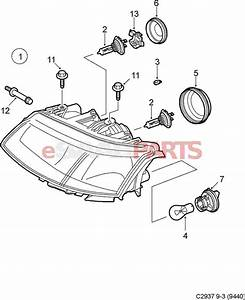 93190465  Saab Bulb - Orange  Direction Indicator