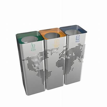 Bins Recycle Steel Stainless Stylish Modern Sst