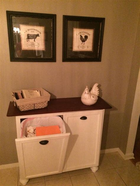 diy double tilt  trash cabinet pic  recyclebins