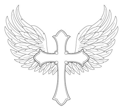 gallery for gt how to draw a cross with wings easy