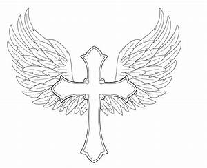 Gallery For > How To Draw A Cross With Wings Easy