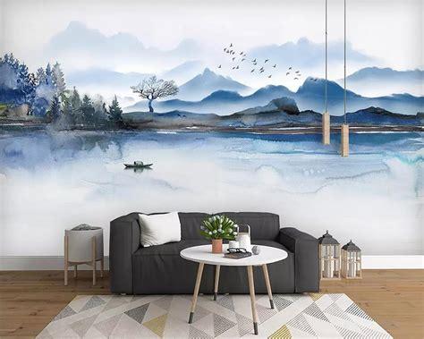 Beibehang Custom Wallpaper Creative Hand Painted Landscape