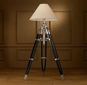 royal marine tripod lamps from restoration hardware With restore wooden floor lamp