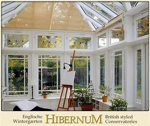 Wintergarten Englischer Stil : englischer wintergarten mit stilechtem sonnenschutz hibernum ~ Markanthonyermac.com Haus und Dekorationen