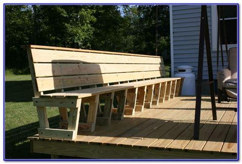 deck bench plans deck bench seating plans decks home decorating ideas