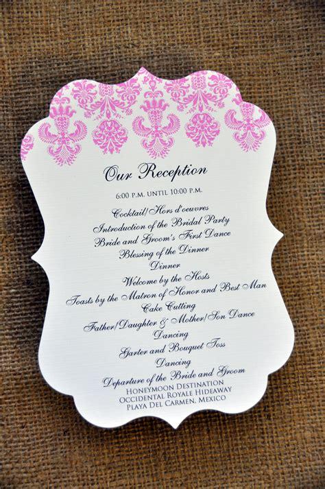 wedding programs romantic decoration