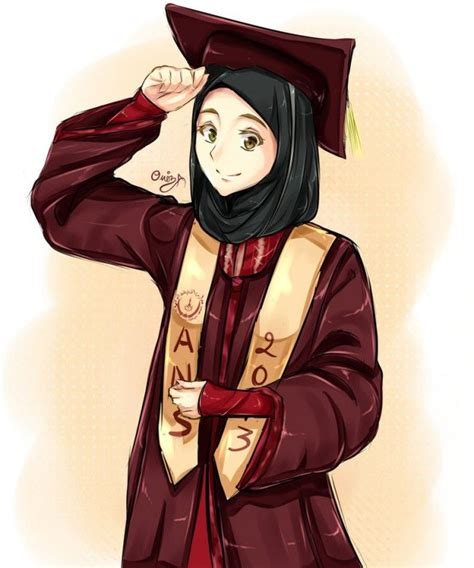 graduate muslimah anime manga drawing pinterest