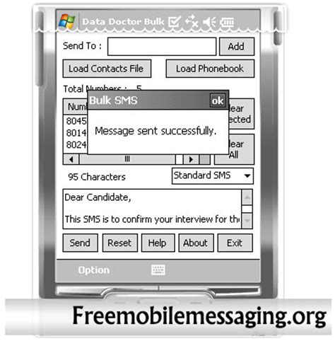 Free Mobile Text Message by Pocket Pc To Mobile Text Messaging Software Send