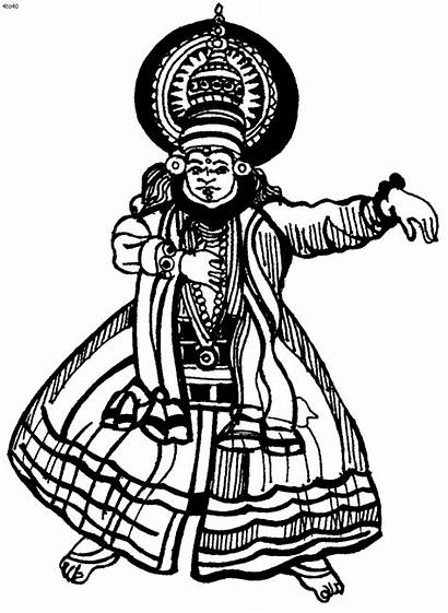 Dance Coloring Folk Clipart Pages India Cliparts