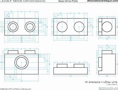 Lego Dimensions Brick Dimension Brickgun Plate Drawing