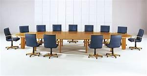 Table 16 Personnes : table de r union elliptique merisier 16 personnes lor mab mobilier de bureau pinterest ~ Teatrodelosmanantiales.com Idées de Décoration