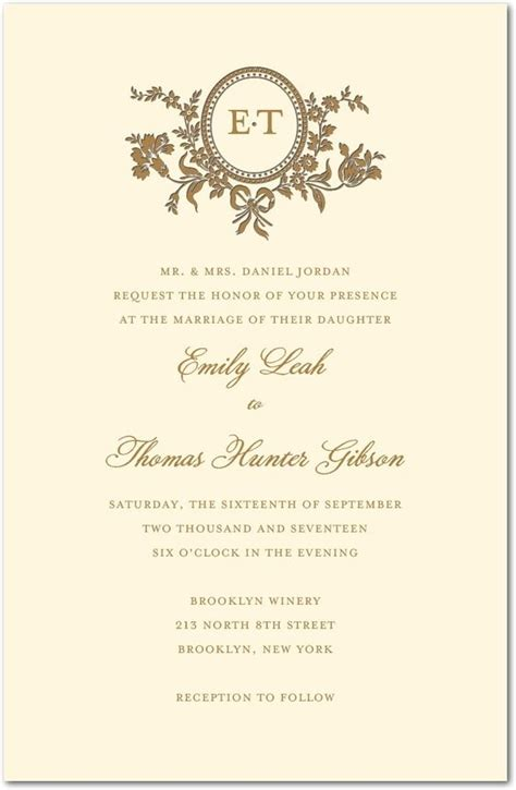 traditional style letterpress wedding invitations
