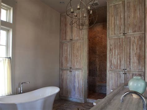 distressed wood cabinets country bathroom geoff chick