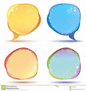 Colored Speech Bubbles With Sparkles Stock Vector - Image ...