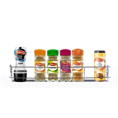 Wall Mounted Chrome Spice Rack by 1 2 3 5tier Chrome Spice Rack Jar Holder Door Mounted