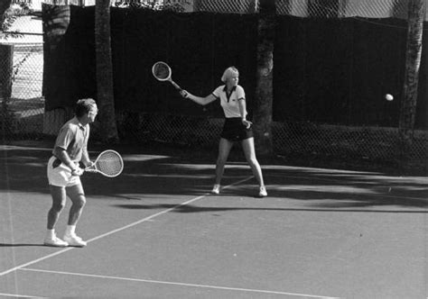 florida memory unidentified people playing mixed doubles tennis fort lauderdale florida