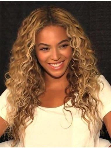 Beautiful Long Curly Blonde Without Bangs Beyonce Inspired ...