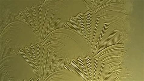 brush swirl oyster shell comb combination artexing wall