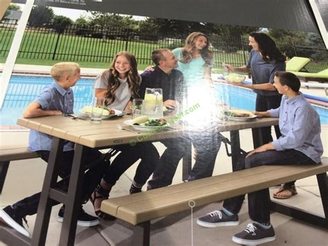 folding picnic table costco lifetime products folding picnic table costcochaser