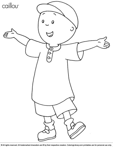 Caillou Printable Coloring Pages Get This Printable Caillou Coloring Pages Yzost