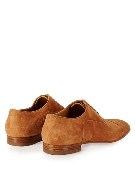 christian louboutin greggo suede oxford shoes  brown
