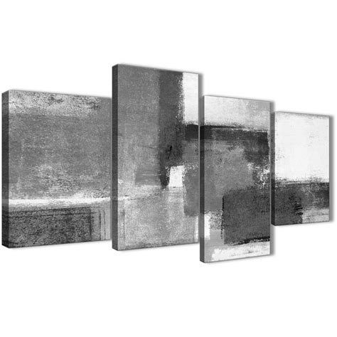 Black And White Abstract Uk by Large Black White Grey Abstract Living Room Canvas