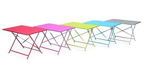 chaises pliantes de jardin table de jardin style bistrot 4 places en acier emilia