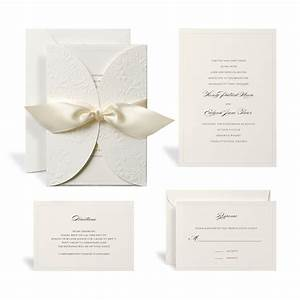 Buy the embossed ivory wrap wedding invitation kit by for Wedding invitations sets michaels