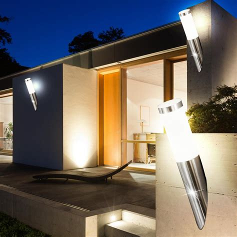 led außenbeleuchtung strahler led aussenbeleuchtung 7 watt aussenle balkon terrasse le ip44 edelstahl eek a kaufen