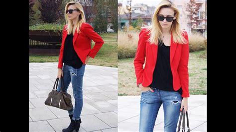 Outfits con blazer rojo - YouTube