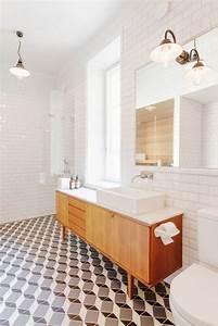 Carreaux De Ciment Salle De Bain : salle de bains avec carreaux de ciment c t maison ~ Teatrodelosmanantiales.com Idées de Décoration