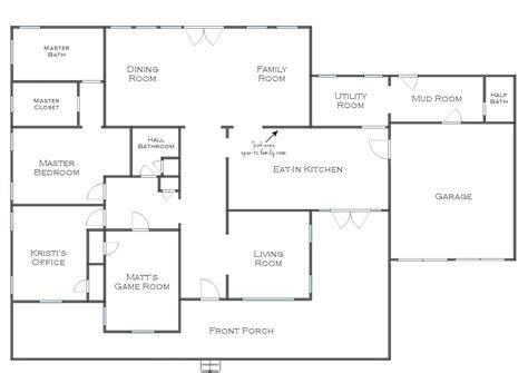 house floor plans blueprints simple house blueprints with measurements and simple house