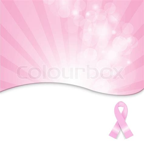 pink breast cancer ribbon background stock vector