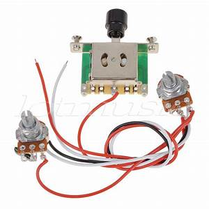 Prewired Wiring Harness Kit 250k Pots 3 Way Toggle Switch