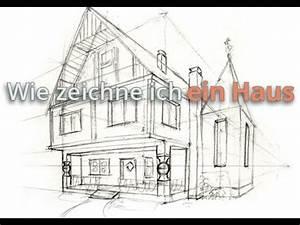 Haus Strichzeichnung Einfach : wie zeichne ich ein haus vorzeichnung youtube ~ Watch28wear.com Haus und Dekorationen