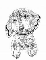 Coloring Dachshund Dackel Ausmalbilder Mandala Single Animal Hund Books Mandalas Volume Gratis Dog Adult Malvorlagen Erwachsene Malbuch Ausmalen Buch Dibujos sketch template