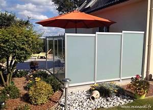 Brise Vue Pour Terrasse : brise vue en verre opaque pour terrasse canisse pvc blanc ~ Dailycaller-alerts.com Idées de Décoration