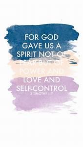 2 Timothy 1:7 wallpaper | Cell Phone Wallpaper | Pinterest ...
