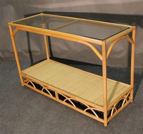 aruba rattan console sofa table   wicker